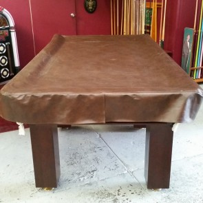 Heavy Duty FITTED Pool Snooker Billiards TABLE COVER - 9' - BROWN