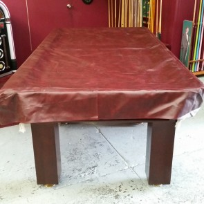 Heavy Duty FITTED Pool Snooker Billiards TABLE COVER - 9' - BURGUNDY