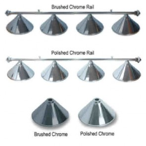 Metal CHROME Pool Snooker Billiards Table LIGHT - 4 x Light Hats