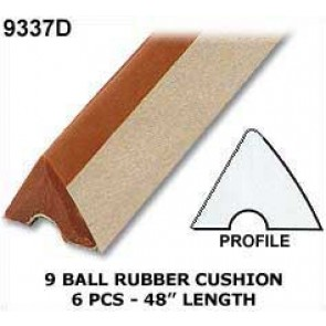 9 BALL TABLE CUSHION RUBBER FOR 8FT TABLE x 6 pcs