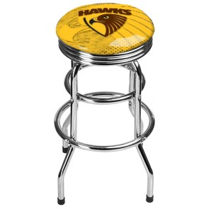 AFL Double Ring BAR STOOL - Hawthorn HAWKS