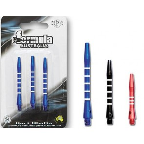 Alloy Ringed Coloured Short Dart Shaft Set of 3