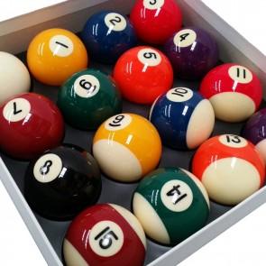 "Aramith KELLY POOL BALL Set 2"" with 1 7/8"" Cue Ball - STANDARD"