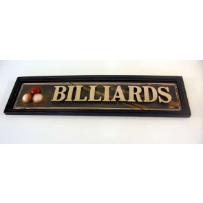 BILLIARD ROOM Sign Three Dimensional