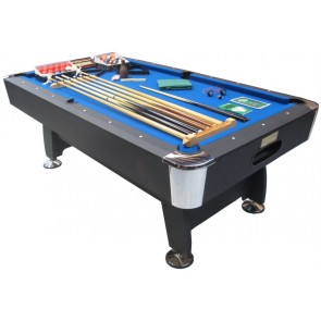 Charlton 8 Foot Snooker Pool Table & THE LOT Blue