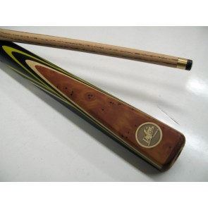 "Dufferin Ash 2 Pce Pool Snooker Billiards 57"" CUE - Yellow Flame"