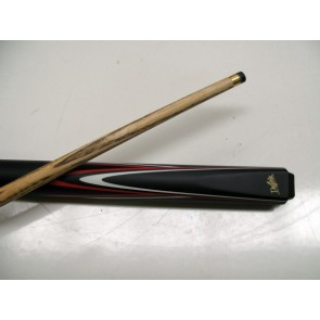 "Dufferin Ash 2 Pce Pool Snooker Billiards 57"" CUE - Red and White Flame"