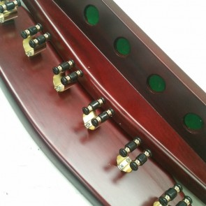Mahogany 2 piece 6 clip wall Cue Rack