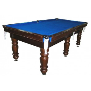 Charlton Professional Slate Pool Table Walnut 7F Blue