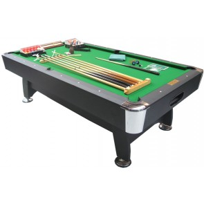 Charlton 8 Foot Snooker Pool Table & THE LOT Green