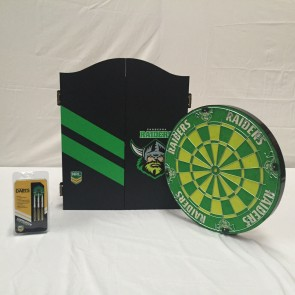 NRL Licensed DARTBOARD PACK - Canberra RAIDERS New Design 2015