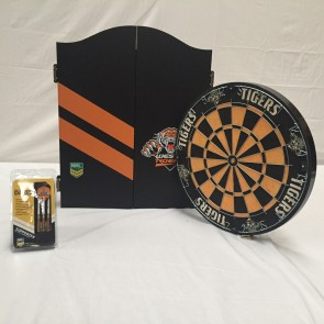 NRL Licensed DARTBOARD PACK - Wests TIGERS New Design 2015