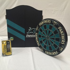 NRL Licensed DARTBOARD PACK - Penrith PANTHERS New Design 2015