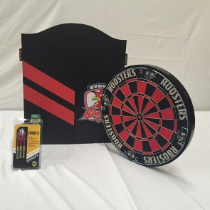 NRL Licensed DARTBOARD PACK - Sydney ROOSTERS New Design 2015