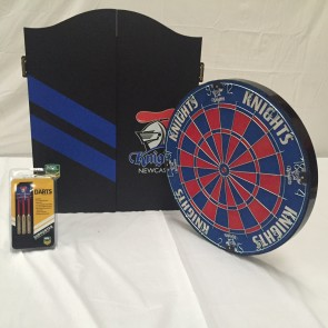 NRL Licensed DARTBOARD PACK - Newcastle KNIGHTS New Design 2015