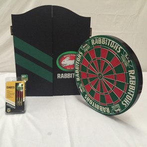 NRL Licensed DARTBOARD PACK - South Sydney RABBITOHS New Design 2015