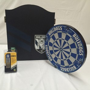 NRL Licensed DARTBOARD PACK - Canterbury Bankstown BULLDOGS New Design 2015