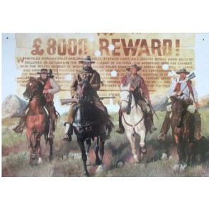 Australian Heritage Series Ned Kelly Gang On Horses Tin Sign