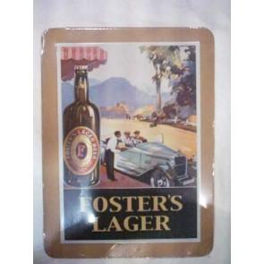 Foster's Lager Old Roaster Vintage Tin Sign