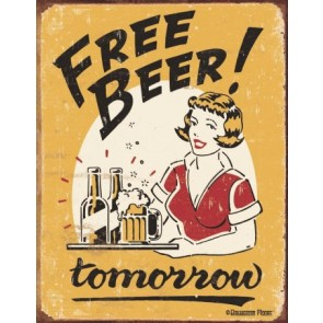 Moore - Free Beer Tin Sign
