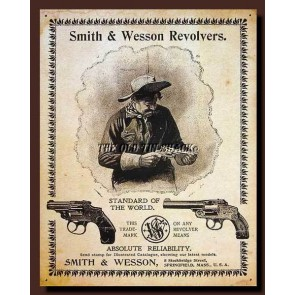 Smith & Wesson - Standard Of The World Tin Sign