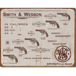 Smith & Wesson - Revolvers - Tin Sign