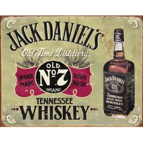 Jack Daniels - Hand Made - Tin Sign