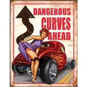 Legends - Dangerous Curves - Tin Sign