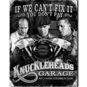 The Three Stooges - Knuckleheads - Tin Sign