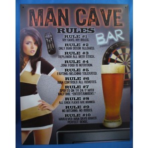 Man Cave - Rules Tin Sign