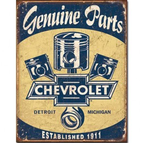 Chevy Parts - Pistons - Tin Sign