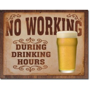 Beer - No Working Tin Sign