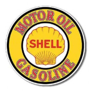 Shell Motor Oil - Round Tin Sign