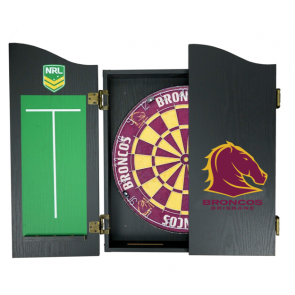 NRL Licensed DARTBOARD PACK - Brisbane BRONCOS New Design 2015