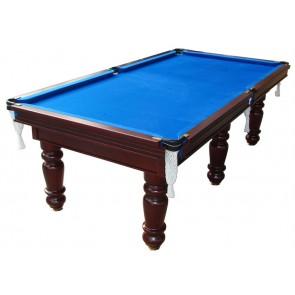 Charlton Professional Slate Pool Table Mahogany 8F Blue