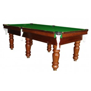Charlton Pro Slate 6 leg Pool Table Walnut 8F Green