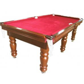 Charlton Pro Slate 6 legPool Table Mahogany Burgundy 7F