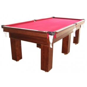 Charlton Pro Slate Square leg Pool Table Walnut Bur 8F
