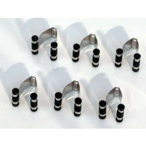 Eddie Charlton Cue Rack Replacement clips SIX x Chrome