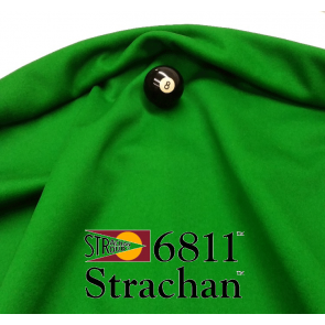 STRACHAN 6811 English Pool Snooker Billiards CLOTH 10ft x 5ft - GREEN
