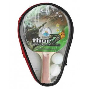 Thor 2 Player Table Tennis Set with 2 Star Bats & Balls
