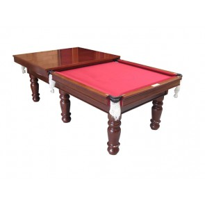 Charlton Pro 6 leg Pool Table Walnut 8F & Dinning Top