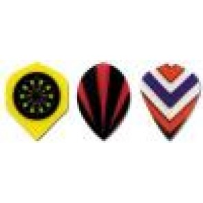 Polyester Emblem Dart Flight Pear - Set of 3