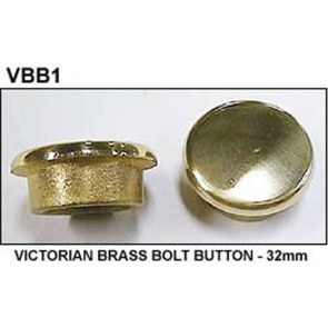 Single Victorian BOLT BUTTON - 32mm - BRASS