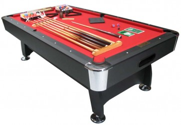 Charlton 7Foot Pool Snooker Table & THE LOT Red