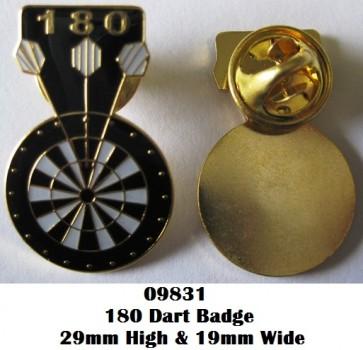 180 Dart Pin Badge