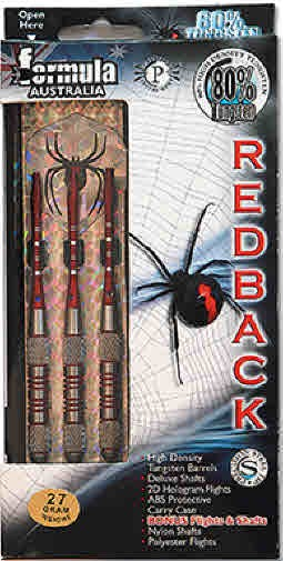 Red Back 80% Tungsten Darts - Boxed Set of 3 - 27gm