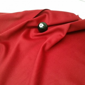 Eddie Charlton DIRECTIONAL Pool Snooker Billiards CLOTH 7ft x 3.6ft - BURGUNDY