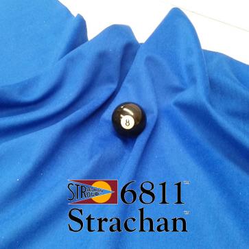 STRACHAN 6811 English Pool Snooker Billiards CLOTH 7ft x 3.6ft - BLUE
