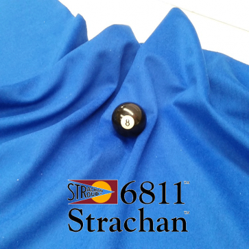 STRACHAN 6811 English Pool Snooker Billiards CLOTH 10ft x 5ft - BLUE